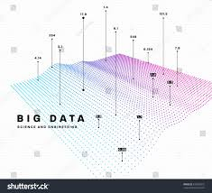 infographic big data computing concept template stock vector