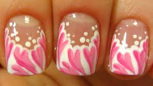 valentines day french tip hearts design for short nails nail art