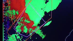 Doppler Weather Map Doppler Weather Radar Screen Showing Tornado Warned Thunderstorms