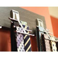 Ideas For Wall Mounted Tie Rack Design Hafele Synergy Elite Collection Cleat Mount Tie Hooks For 8
