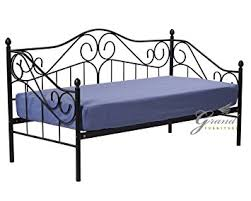 Exclusive Joseph Victorian Style FT Single Black Metal Day Bed - Sofa bed frames
