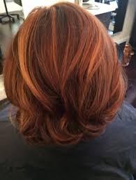 honey brown haie carmel highlights short hair multi dementional auburn red with honey highlights hair by