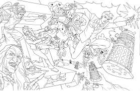 doctor who coloring page coloring home