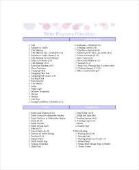baby regisrty essential baby registry checklist 7 pdf documents