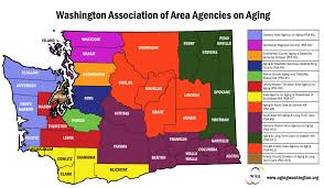 County Map Washington by Area Agencies On Aging Washington Association Of Area Agencies