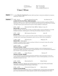 Resume Sample Pharmacy Technician by Resume Sample Security Guard Resume