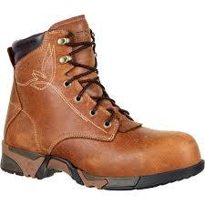 womens steel toe work boots near me rocky s aztec brown lace up composite toe waterproof work
