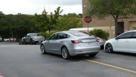 tesla model 3 spotted with a new color gray electrek