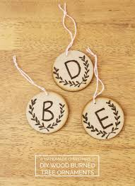 diy wood burned ornaments megan nielsen design diary