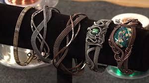 weave wire bracelet images Sarah thompson 39 s wire weaving bracelets online class giveaway JPG