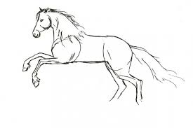 simple horse drawing simple horse sketches a simple black line