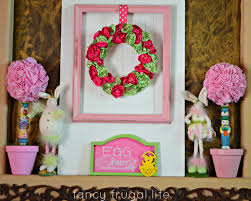 fancy frugal easter mantel u0026 decor 2013