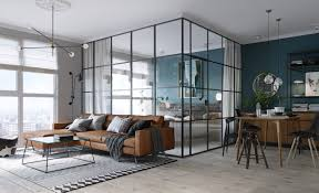 Compact Design A Compact Apartment In Kiev With A Glass Enclosed Bedroom Design