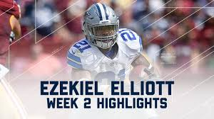 why does dallas play every thanksgiving every ezekiel elliott run cowboys vs redskins nfl week 2