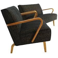 Modern Loveseats Pair Of Mid Century Modern Loveseats New Upholstery For Sale At