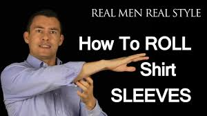 how to roll up shirt sleeves 3 ways to fold mens dress shirt