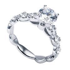 scalloped engagement ring 14k white gold scalloped engagement ring wedding day diamonds