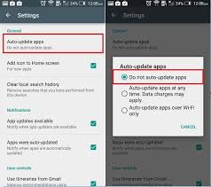 app updates android enable disable auto update app in android play store