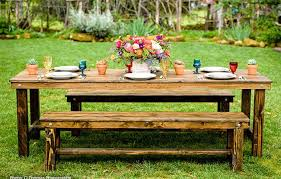 farm tables with benches farm table bench rentals san diego