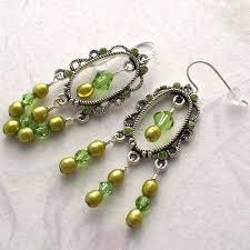 Peridot Chandelier Earrings Artfire Markets