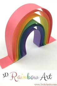 construction paper crafts for kids 3d rainbow art construction