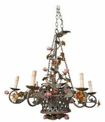 French Wire Chandelier Tole Painted Chandelier Foter