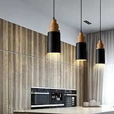 Restaurant Pendant Lighting Mstar Vintage Industrial Pendant Light Black Metal And Wooden