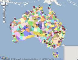 map od australia language map of australia travel maps and major tourist