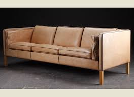 sold danish tan leather sofa 30d017 danish vintage modern