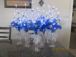 Quinceanera Table Centerpieces Royal Blue Quinceanera Table Decorations Photograph S640 4