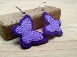 felt earrings 42 best dusi felt jewelry images on feltro wool felt