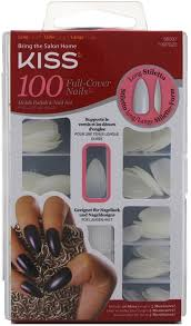 kiss full cover nails long stiletto assorted sizes 100 ea