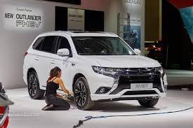 black mitsubishi outlander 2016 mitsubishi outlander phev facelift revealed at frankfurt gets
