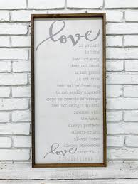 bible quote gifts talents love is patient love is kind 1 corinthians 13 sign bible