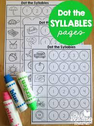 syllables worksheets dot the syllables syllable worksheets