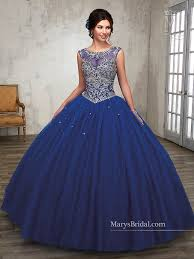 blue quinceanera dresses beaded illusion quinceanera dress by s bridal beloving 4804