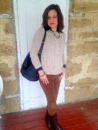 women u0027s beige cable sweater navy dress shirt brown corduroy