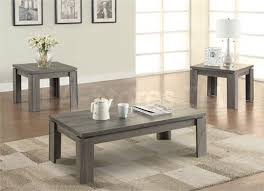 3 piece end table set coaster 701686 weathered grey 3 piece coffee table set