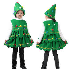 christmas tree costume winter warm clothes hot sale children clothing toddler kids baby