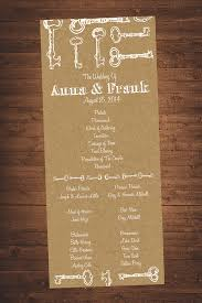 kraft paper wedding programs 3 75x8 75 vintage kraft paper wedding program diy digital