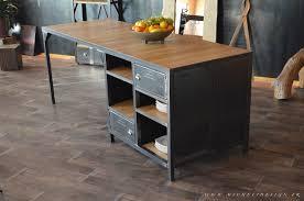 ilot de cuisine en bois meuble cuisine industriel great g a et aussi meilleur modes meuble