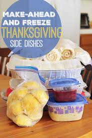 make ahead and freeze thanksgiving side dishes as