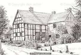 example of a farm house drawing used as a shoot card cover print
