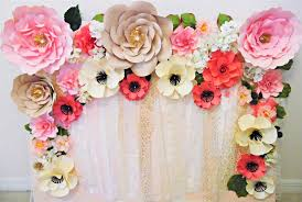 flower backdrop paper flowers at your next event the party fetti