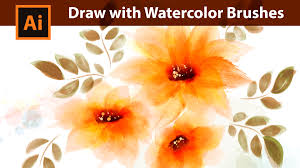 adobe illustrator tutorial how to draw with watercolor brushes