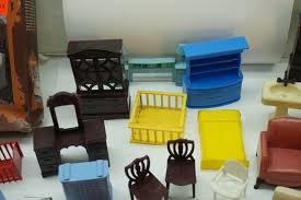 vintage dollhouse furniture lot doll house 1950s plastic kitchen