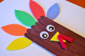 turkey craft sticks craft for kids