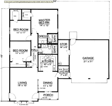 3 bedroom bungalow floor plan 4 bedroom plan bedroom house floor