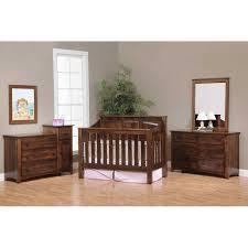 mission panel crib 26 mispc amish oak nursery furniture made in