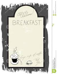 free blank menu template breakfast menu template